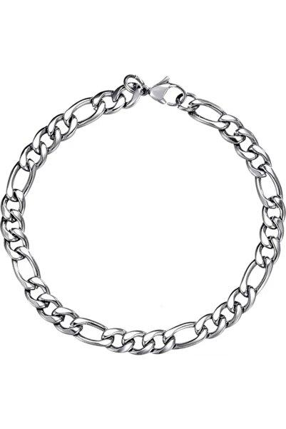 Mammamia Figaro Zincir Çelik Silver Bileklik