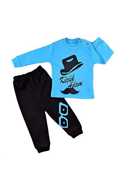Babyboy Erkek Çocuk Lacivert 2 Li Alt Üst Baskılı Pijama Eşofman Takım