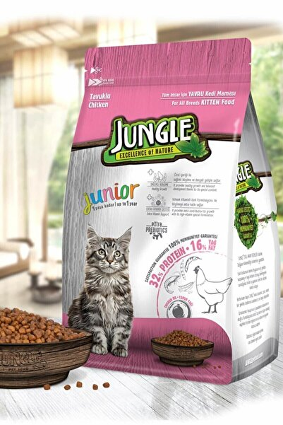 Jungle 1,5 Kg Yavru Kedi Maması Tavuklu