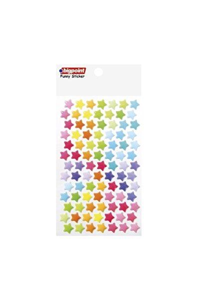 Bigpoint Sticker Pastel Renkli Yıldızlar Orta Boy 15'li Paket