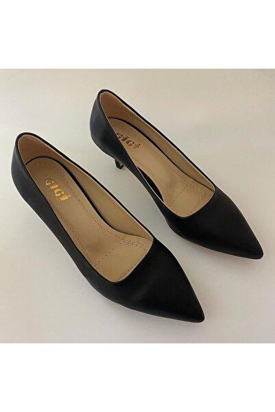 Gigi Siyah Klasik Topuklu Ayakkabı