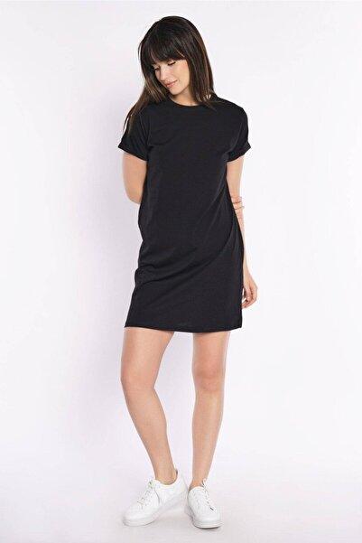 zepkids Kadın Tunik Elbise Basic Kısa Kollu