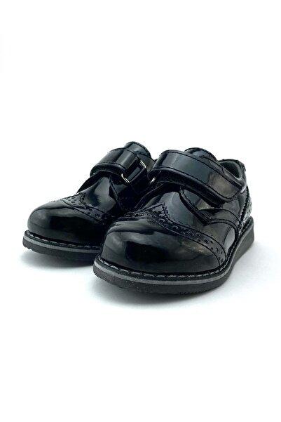 Mnk Erkek Çocuk Rugan Klasik Çırtçırtlı Ayakkabı