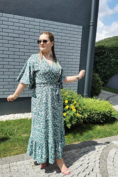 MACFLY Kruvaze Yaka Elbise