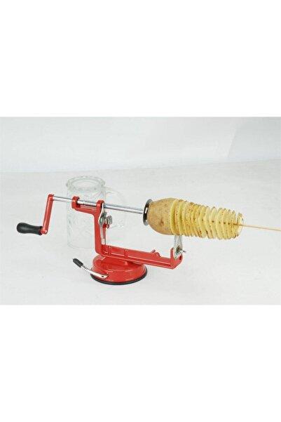 Biomak Dilimleyici Metal Vantuzlu Makine Spiral Patates Dilimleyici Pratik Patates Dilimleme Aparatı