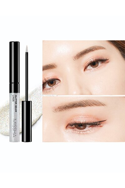 Missha Yoğun Simler İçeren Parıltılı Eyeliner Glitter (Hello Guys)