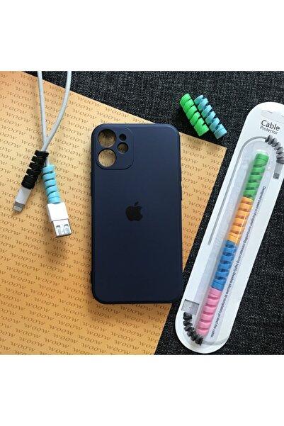Mislina Iphone 12 Mini Model Uyumlu, Kamera Korumalı, Logolu Lansman Kılıf Ve Kablo Toparlayıcı