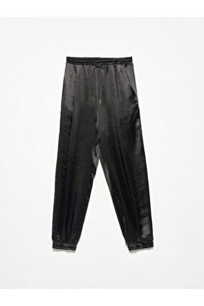 4820 Deri Bağcıklı Pantolon Siyah