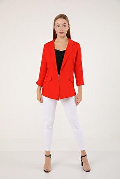 Kadın Astarsız Ceket Kırmızı