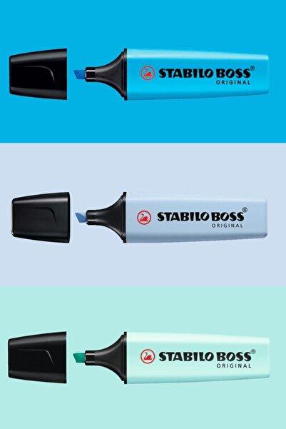 Stabilo Mavi Aşkı 3'lü Set (Canlı Mavi- Pastel Azure Mavi- Pastel Mavi)