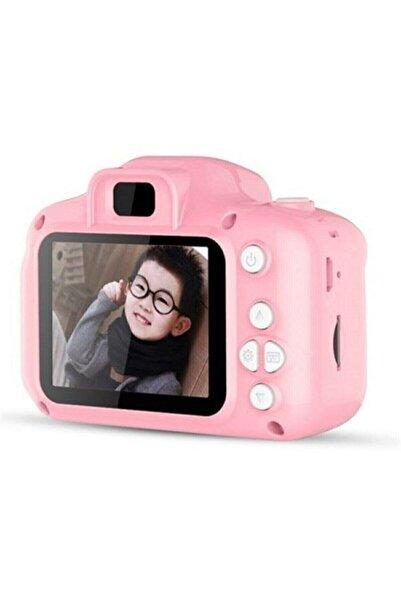Retro Aksesuar Unisex Çocuk Pembe Mini 1080p Hd 16 Sd Kart Kamera İçin Dijital Fotoğraf Makinesi