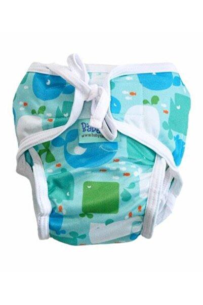 BabyNEO Yıkanabilir Mayo Bebek Bezi - (BALİNALAR) 3 Beden 15-20 kg