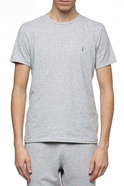 AllSaints All Saints Erkek Gri %100 Pamuk Tshirt