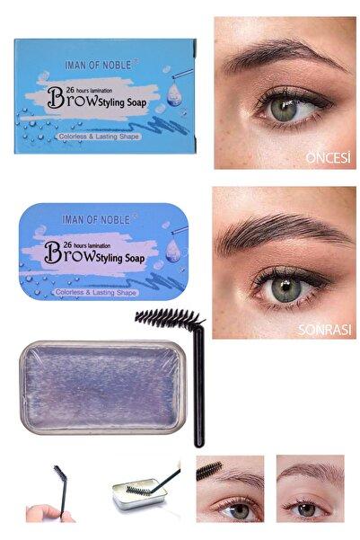 IMAN OF NOBLE Kaş Şekilendirici Sabun Brow Styling Soap Şeffaf 12g Mavi Ambalaj