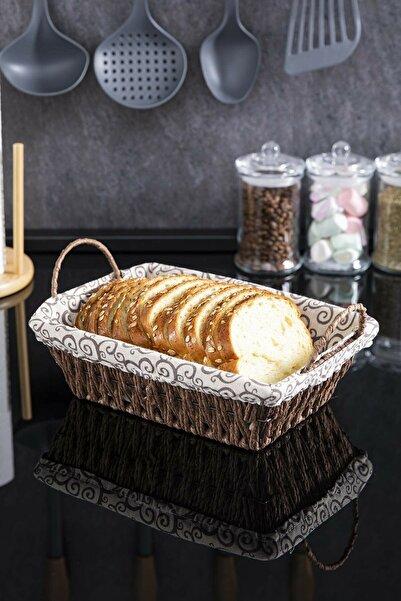HOMENIVA Hasır Örgülü Ekmek Sepeti&meyvelik