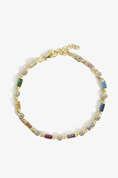 Lapidore Rainbow Taşlı Gold Bileklik