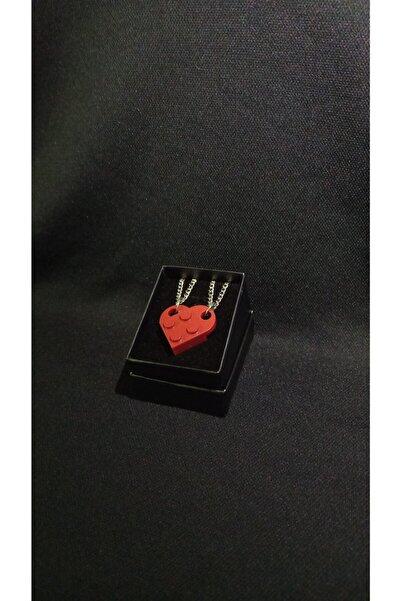 LEGO Kalp Çift Kolyesi Koyu Kırmızı