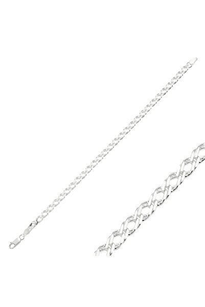 Silverella Gümüş 925 Ayar 80 Mikron Rombo Zincir Bileklik