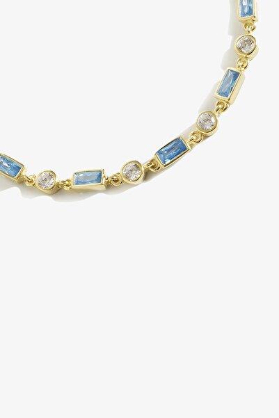Lapidore Aqua Taşlı Gold Bileklik