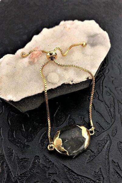 Dr. Stone Dr stone golden  labradorit taşı 22k altın kaplama El yapımı Kadın Bileklik TKRB10