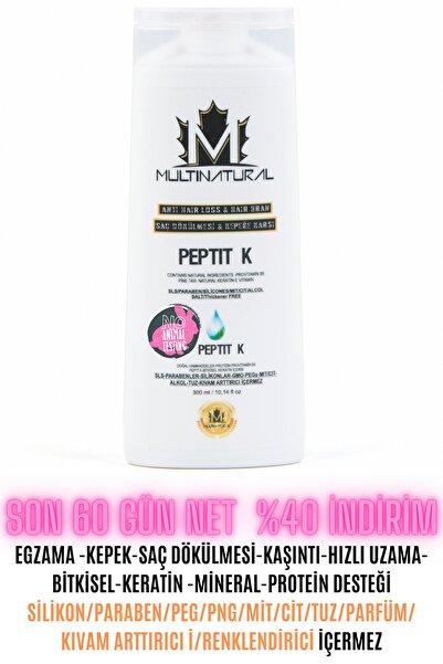 multinatural Egzama Şampuan Kepek-kaşıntı-seboreik Şaç Dökülmesi Doğal Keratin + Protein Desteği