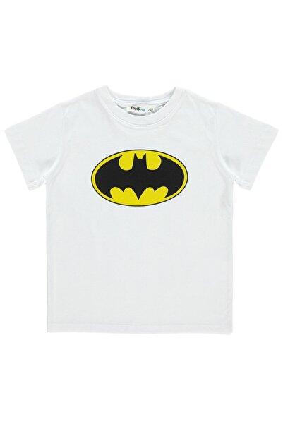 Batman Erkek Çocuk Tişört 2-5 Yaş Beyaz