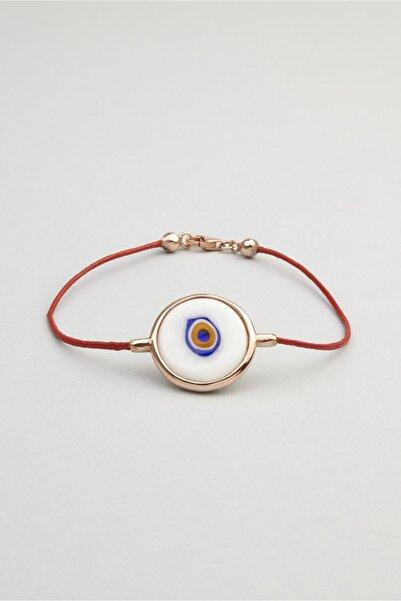So CHIC... Göz Figürlü 18 Ayar Rose Altın Kaplama Gümüş Bileklik