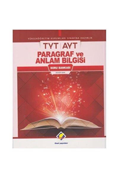 Final Yayınları Tyt Paragraf Ve Anlam Bilgisi Soru Bankası