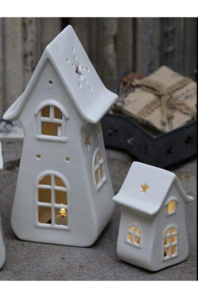 Spring&Kos Porselen Işıklı Ev Büyük