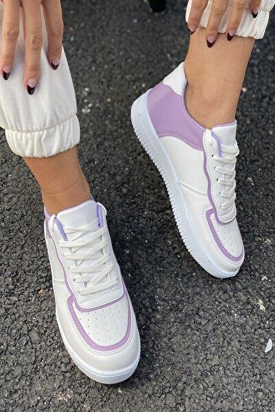 İnan Ayakkabı Kadın Beyaz Aır Taban Sneaker
