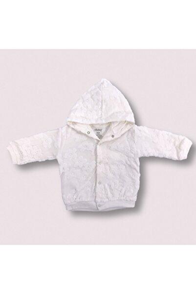 Bebitof Bebek Ceket %100 Pamuk Çiçek Desenli