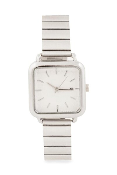 OQQO Medium Beyaz Kadran Gümüş Kadın Kol Saati