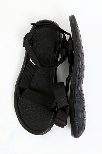 Beyond Siyah Erkek Cırtlı Trekking Sandalet