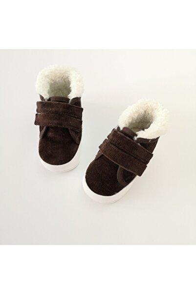 Funny Içi Kürklü Koyu Kahve Bebek Ayakkabı