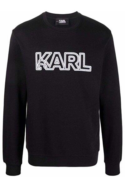 Karl Lagerfeld Baskı Siyah Sweatshirt