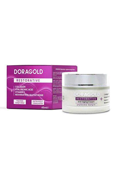 Doragold Restorative C Vitamini Kolajen Hyaluronic Acid Resveratrol Aydınlatıcı Yaşlanma Karşıtı Krem 45 ml