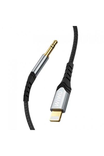 Kilifplus Wiwu Lightning Örgülü Aux Ses Kablo 1.5mt - Siyah