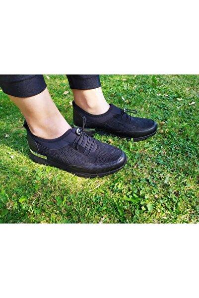 Taşpınar Charisma Siyah Taşlı Rahat Ve Hafif Taban Lastik Ipli Kadın Spor Ayakkabı