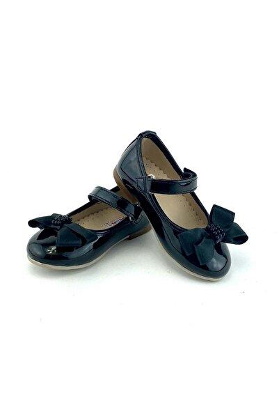 Mnk Rugan Saten Kurdelalı Abiye Babet Ayakkabı