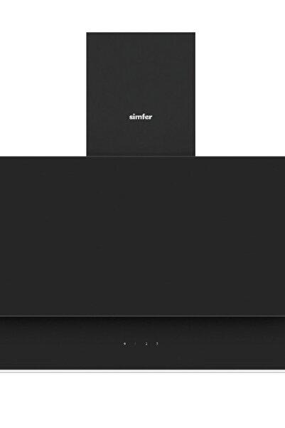Simfer 9613 60 Cm Siyah Eğik Cam Davlumbaz