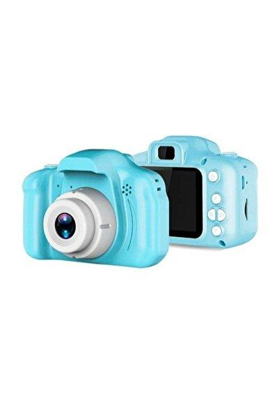 Retro Aksesuar Unisex Çocuk Mavi Mini 1080p Hd Kamera İçin Dijital Fotoğraf Makinesi