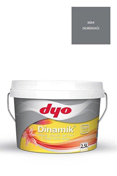 Dyo Dinamik Silikonlu Silinebilir Ipek Mat Iç Cephe Duvar Boyası 9064 Demirdağı 2,5 Lt