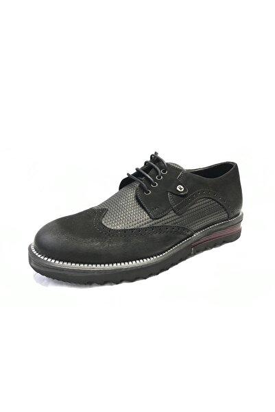 Şahin Erkek Siyah Bordo Süet Deri Klasik Oxford Ayakkabı