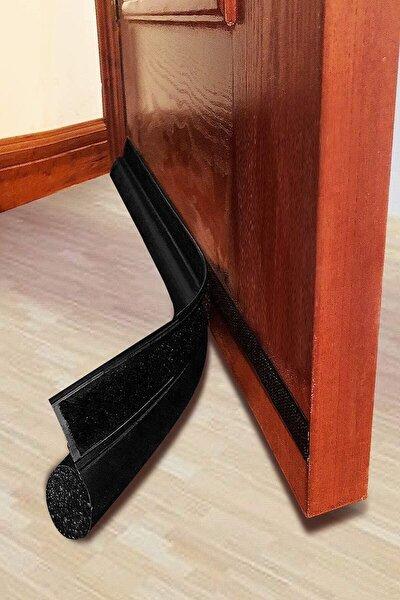 Ankaflex Kapı Altı Rüzgar Önleyici Sünger Kapı Altlığı Lüks Model 90 Cm Siyah