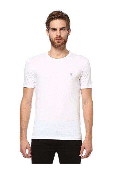 AllSaints All Saints Erkek Beyaz %100 Pamuk Tshirt