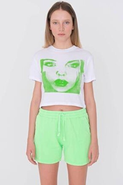 Baskılı Kısa T-shirt P9630 - U6