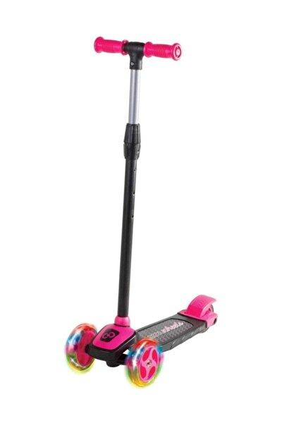 Furkan Toys Furkan Cool Wheels Led Işıklı 3 Tekerlekli Yükseklik Ayarlı Pembe Scooter