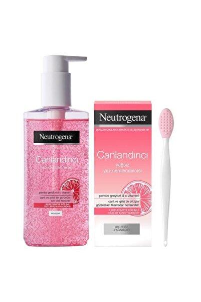 Neutrogena Canlandırıcı Temizleme Jeli 200 ml Nemlendirici 50 ml Fırça