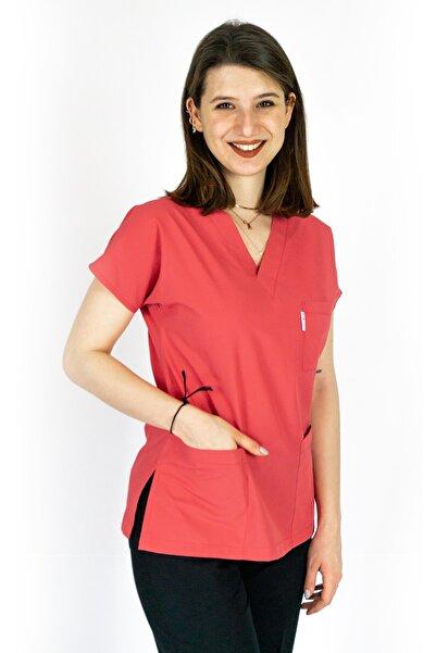 Simirna Üniforma Cerrahi Doktor Hemşire Forması Narçiçeği Üst