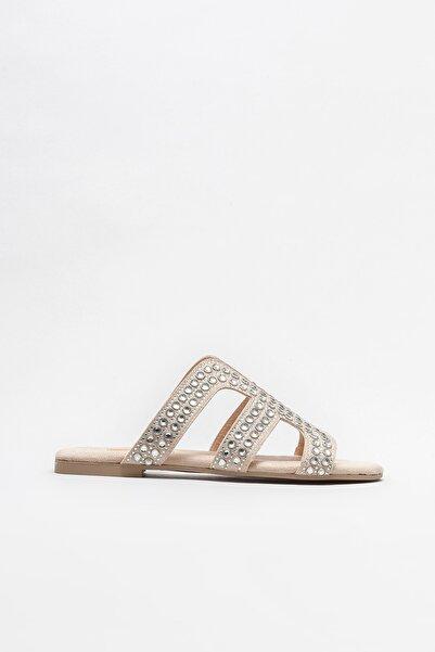 Elle Shoes Bej Kadın Düz Terlik